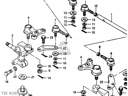 Suzuki LT230E 1993 (P) parts lists and schematics