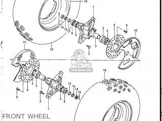 Suzuki LT230S 1987 (H) USA (E03) parts lists and schematics
