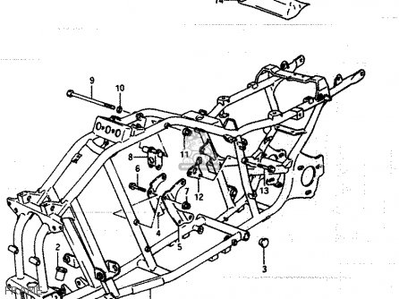 Suzuki Lt250 1985 (eff) parts list partsmanual partsfiche