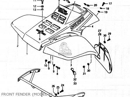 Suzuki Lt250 1985 (eff) parts list partsmanual partsfiche