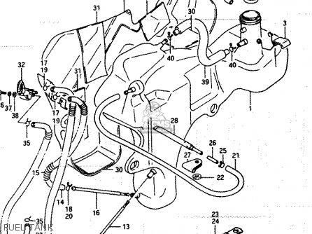 Suzuki LT250EF 1985 (F) parts lists and schematics