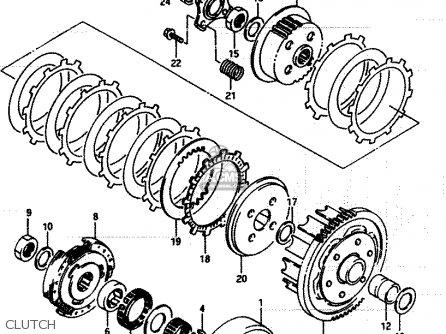 Suzuki LT250EF 1985 (F2) parts lists and schematics