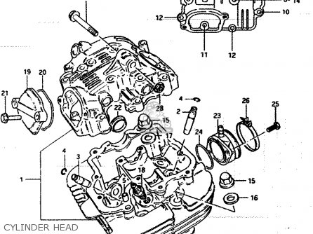 Suzuki Lt250ef 1986 (g) parts list partsmanual partsfiche