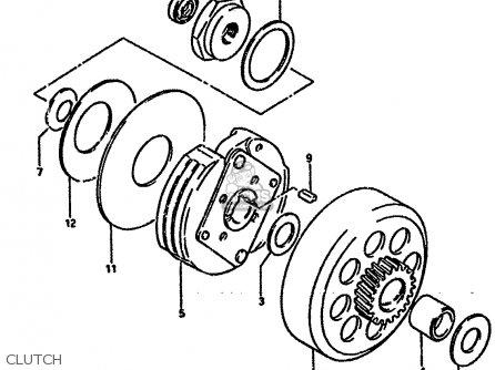 Suzuki LT50 1984 (E) parts lists and schematics