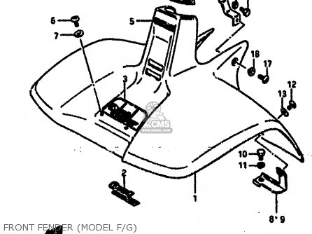 Suzuki Lt50 1985 (f) parts list partsmanual partsfiche