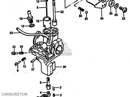 Suzuki Lt50 1986 (g) parts list partsmanual partsfiche