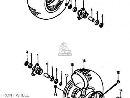Suzuki Lt50 1986 (g) parts list partsmanual partsfiche