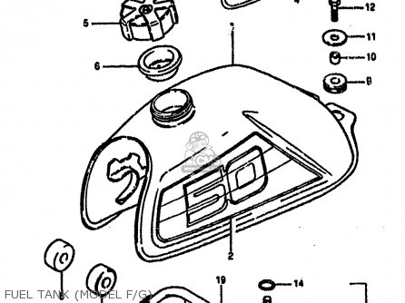 Suzuki LT50 1986 (G) parts lists and schematics