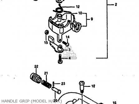 Suzuki LT50 1986 (G) parts lists and schematics