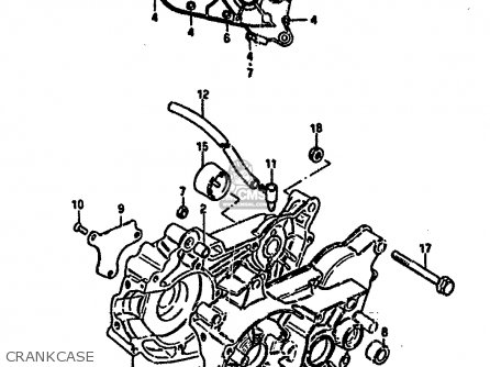Suzuki Lt50 1987 (h) parts list partsmanual partsfiche