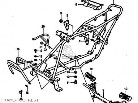 Suzuki LT50 1987 (H) parts lists and schematics