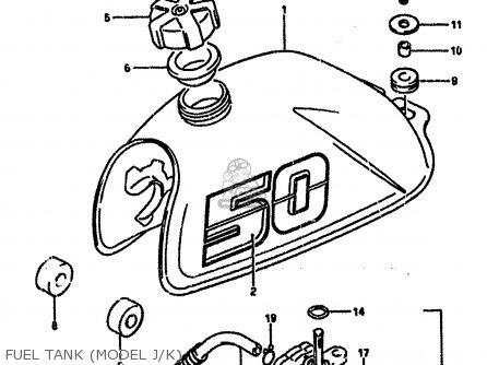 Suzuki LT50 1989 (K) parts lists and schematics
