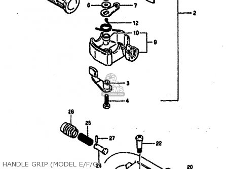 Suzuki Lt50 1989 (k) parts list partsmanual partsfiche