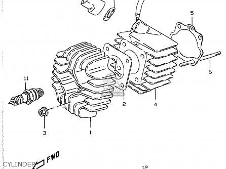Suzuki Lt50 1990 (l) parts list partsmanual partsfiche