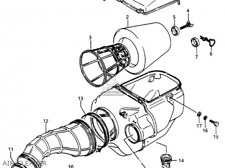 Suzuki Lt500 1988 (rj) parts list partsmanual partsfiche