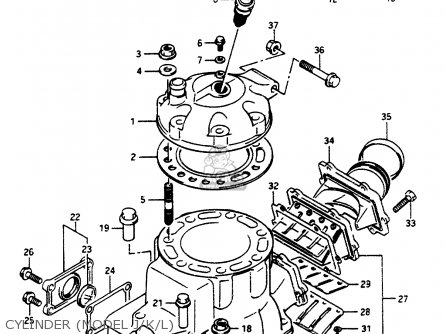 Suzuki LT500R 1987 (H) parts lists and schematics