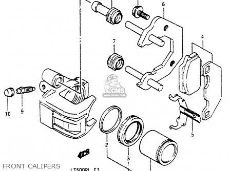 Suzuki Lt500r 1987 (h) parts list partsmanual partsfiche