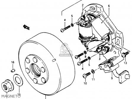 Suzuki Lt500r 1988 (j) parts list partsmanual partsfiche