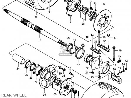 Suzuki Lt500r 1988 (j) parts list partsmanual partsfiche