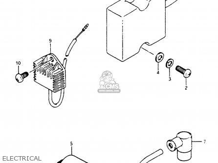 Suzuki LT500R 1989 (K) parts lists and schematics