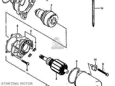 Suzuki Lt80 1993 (p) parts list partsmanual partsfiche