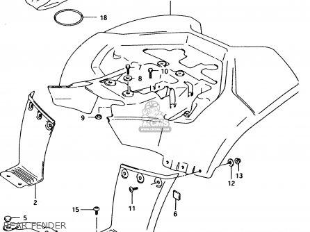 Suzuki LT80 1999 (X) parts lists and schematics