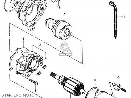 Suzuki LT80 2000 (Y) parts lists and schematics