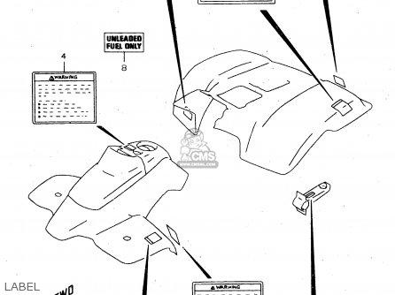 Suzuki Ltf160 1999 (x) parts list partsmanual partsfiche