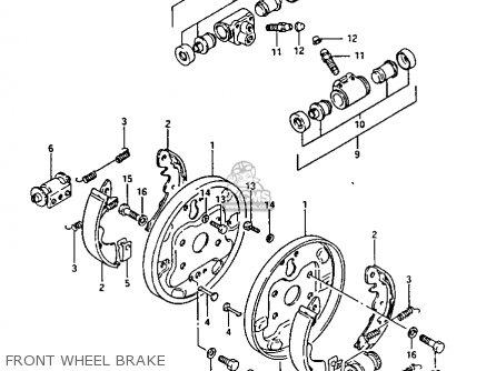 Suzuki Ltf230 1987 (h) parts list partsmanual partsfiche