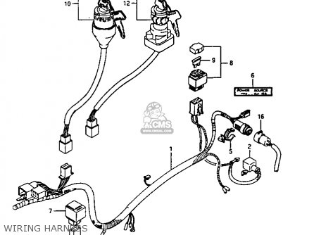 Suzuki Ltf230 1987 (h) parts list partsmanual partsfiche