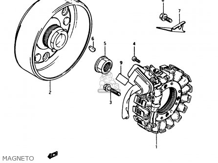 Suzuki LTF250 1988 (J) parts lists and schematics