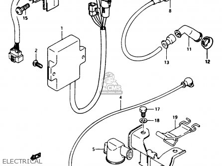 Suzuki Ltf250 1989 (k) parts list partsmanual partsfiche