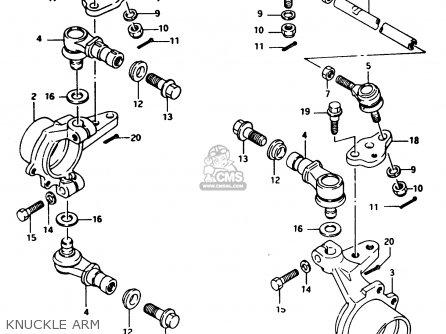 Suzuki LTF250 1994 (R) parts lists and schematics
