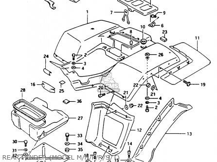 Suzuki Ltf250 1994 (r) parts list partsmanual partsfiche