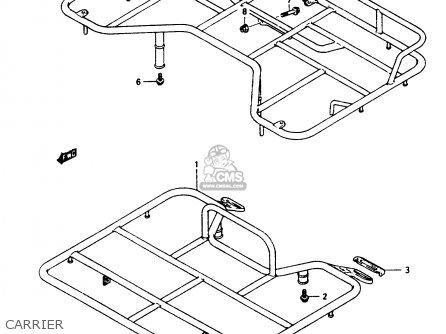 Suzuki Ltf250 1997 (v) parts list partsmanual partsfiche