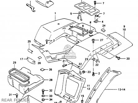 Suzuki Ltf250 1997 (v) parts list partsmanual partsfiche