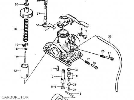 Suzuki Or50 1979 1980 (n) (t) Usa (e03) parts list