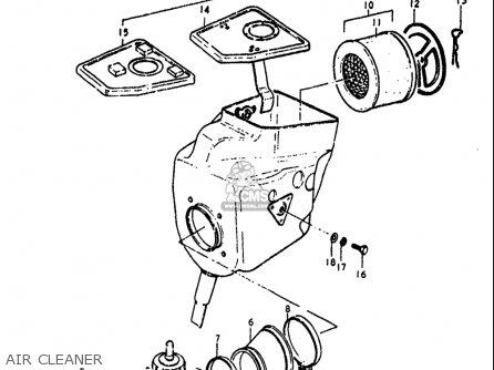 Suzuki Pe175 1978-1979 (usa) parts list partsmanual partsfiche