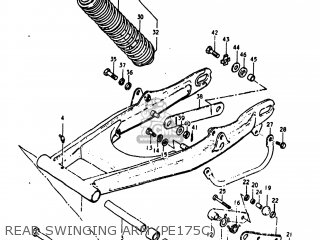 Suzuki Pe175 1978 (c) Usa (e03) parts list partsmanual
