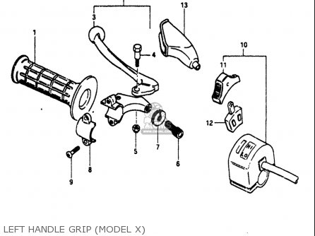Suzuki Pe175 1980-1981 (usa) parts list partsmanual partsfiche