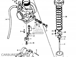 Suzuki Pe175 1980 (t) Usa (e03) parts list partsmanual
