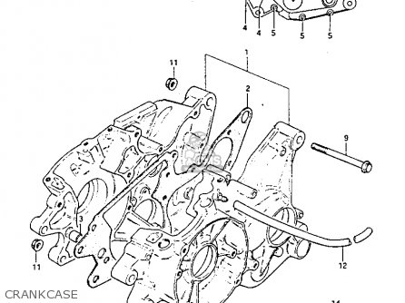 Suzuki Pe175 1982 (z) parts list partsmanual partsfiche