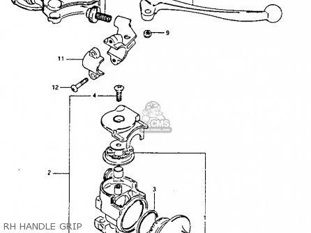Suzuki Pe175 1982 (z) parts list partsmanual partsfiche