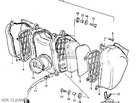 Suzuki PE175 1983 (D) parts lists and schematics