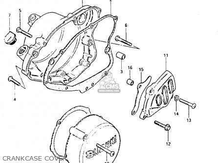 Suzuki Pe175 1983 (d) parts list partsmanual partsfiche