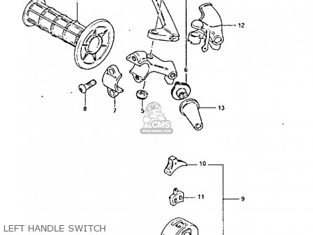 Suzuki Pe175 1984 (e) parts list partsmanual partsfiche