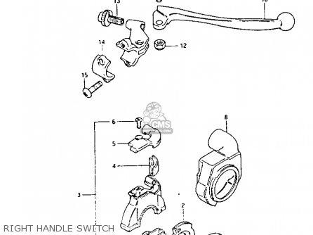 Suzuki Pe175 1984 (e) parts list partsmanual partsfiche