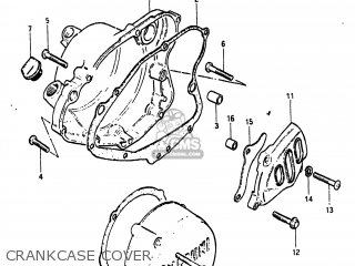 Suzuki Pe175 1984 (e) Usa (e03) parts list partsmanual