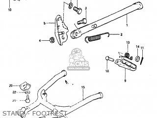 Suzuki PE175 1984 (E) USA (E03) parts lists and schematics