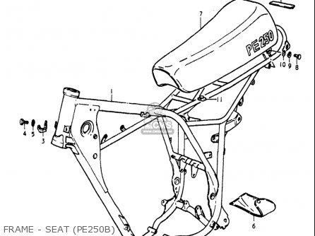 Suzuki Pe250 1977-1979 (usa) parts list partsmanual partsfiche